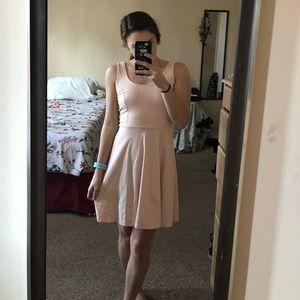 Light Pink Forever 21 Lace Back Tank Skater Dress